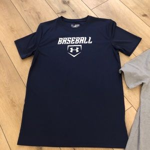 Boys Under Armour Baseball Top